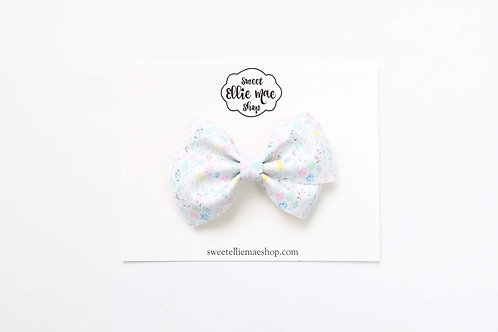 Pastel Mermaid Scales   Thick Lou Bow