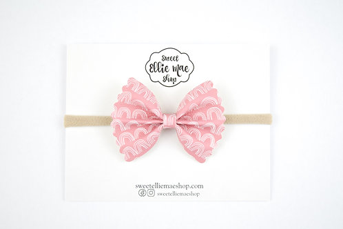 Terracotta Rainbows | Mini Scalloped Ellie Bow