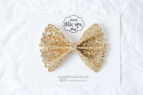 Gold Glitter |  Scalloped Ellie Bow