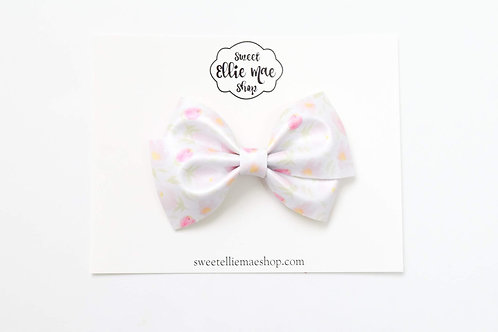 Watercolor Shimmer Floral | Thick Lou Bow