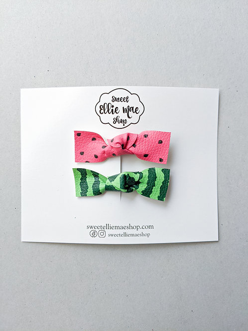 Knotted Bow Bar Clip set