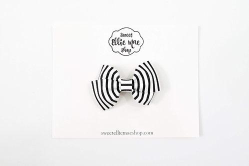 B&W Stripes | Mini Lou Bow