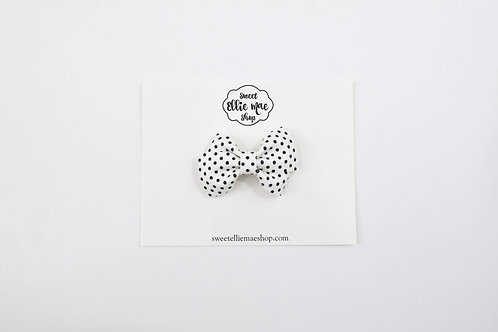 B&W Polka Dots | Mini Lou Bow