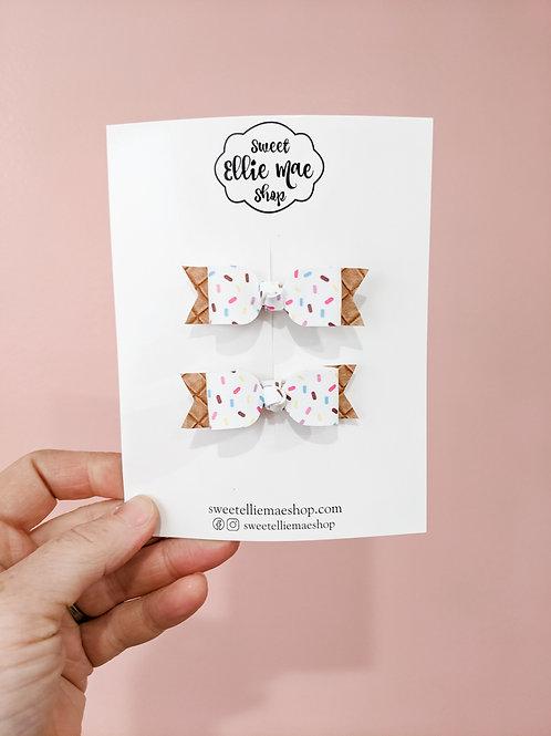 Ice Cream Cone   Mini Mae bows