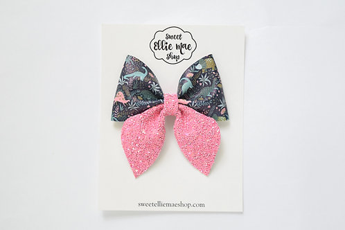 Pink & Dinos | Large Sailor Bow