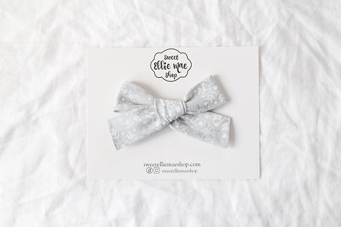 Silver Snowflakes | Hand-tied Gracie Bow