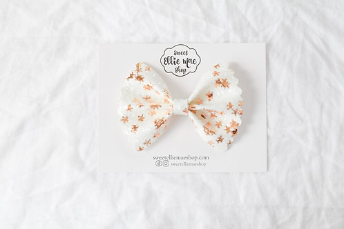 Gingerbread Man Glitter |  Scalloped Ellie Bow