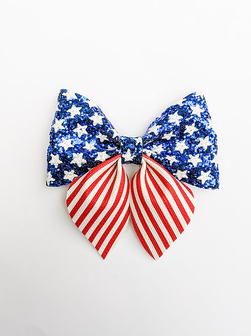 American Flag | Large Sailor Bow