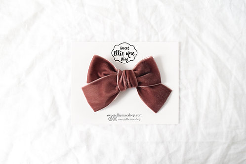 Mink | Hand-tied Velvet Bow