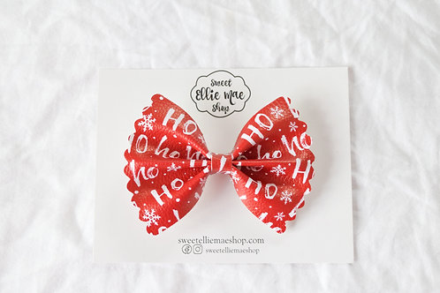 HO HO HO |  Scalloped Ellie Bow