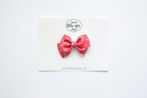 Red Hearts | Mini Lou Bow