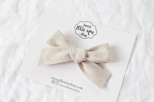 Natural Linen  | Hand-tied Gracie Bow