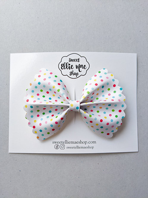 Party Polka Dots    Scalloped Ellie Bow