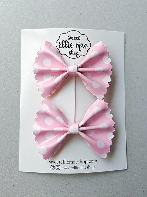 Minnie Polka Dots | Mini Scalloped Ellie Bow