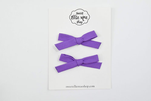 Purple | Hand-tied Emma Bows