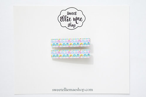 Happy Rainbows Printed Acrylic | Bar Clips