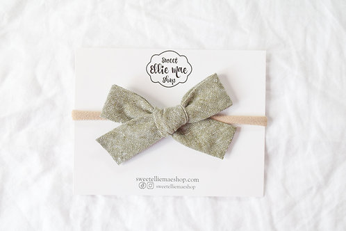 Dark Forest Tweed  | Hand-tied Gracie Bow