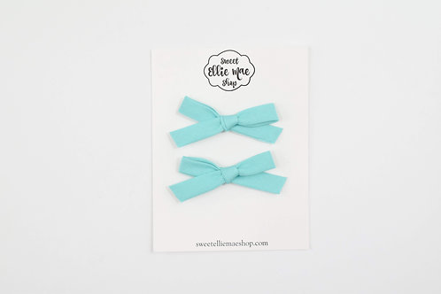 Teal | Hand-tied Emma Bows