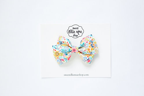 Bright Summer Floral | Thick Lou Bow
