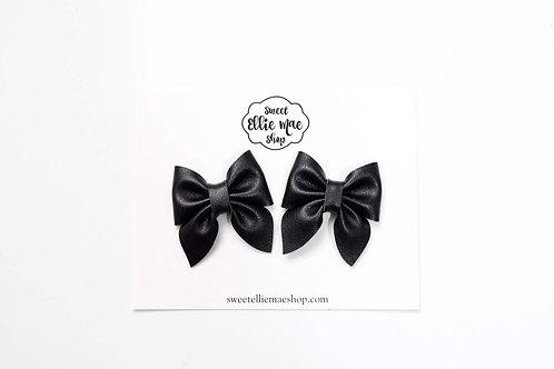 Black | Mini Sailor Bows
