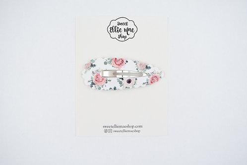 Floral Elegance | XL Scalloped Snap Clip