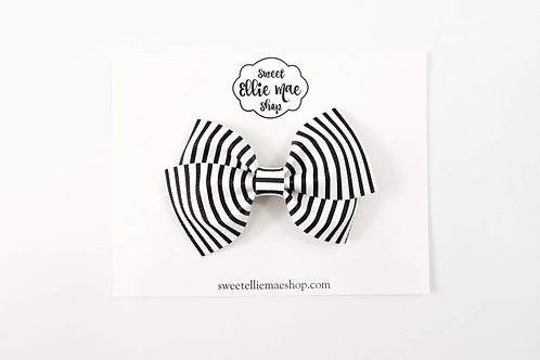 B&W Stripe | Thick Lou Bow