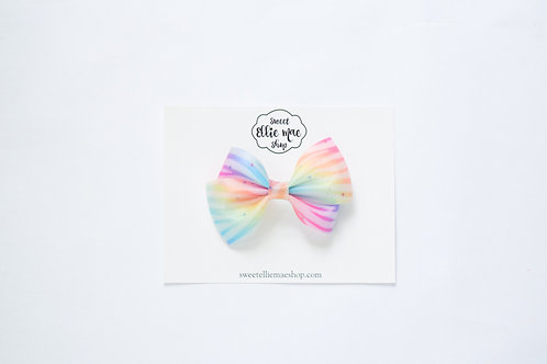 Rainbow Zebra Matte Jelly Vinyl | Thick Lou Bow