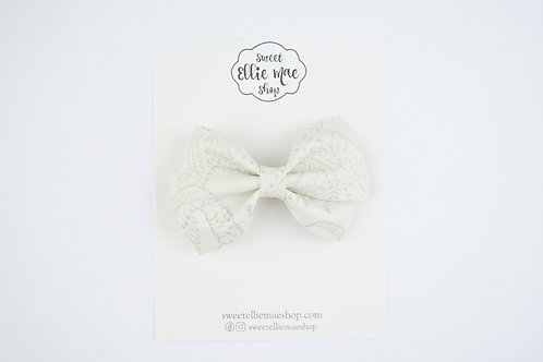 Antique White Embossed | Thick Lou Bow