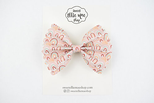 Wrapped in Rainbows |  Scalloped Ellie Bow