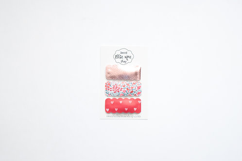 Set of 3 | Scalloped Snap Clips