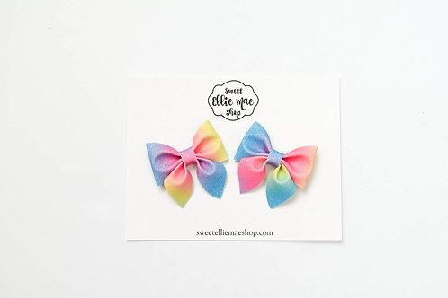 Ombre Rainbow | Mini Sailor Bows
