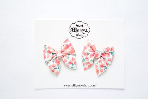 Just Peachy | Mini Sailor Bows