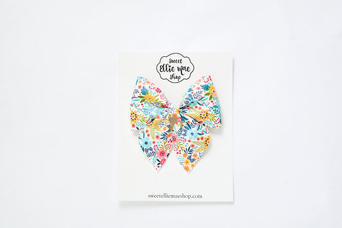 Bright Summer Floral | Large Sailor Bow