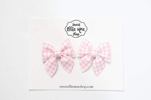 Pink Gingham   Mini Sailor Bows