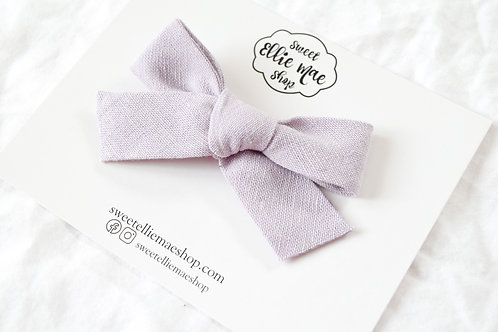 Linen Lilac   Hand-tied Gracie Bow