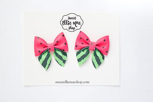 Watermelon | Mini Sailor Bows