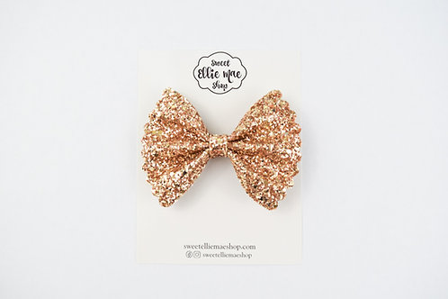 Old Gold |  Scalloped Ellie Bow