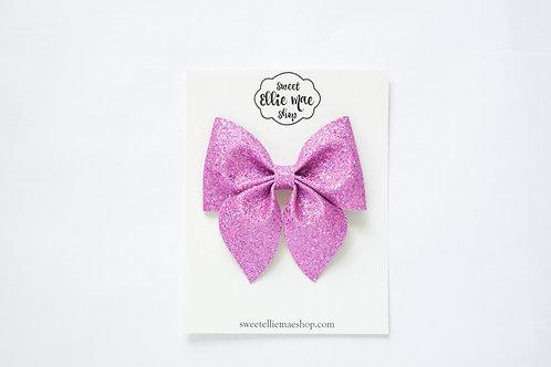 Bright Purple Holo Glitter | Large Sailor Bow