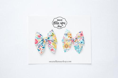 Bright Summer Floral | Mini Sailor Bows