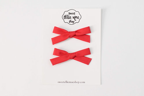 True Red   Hand-tied Emma Bows