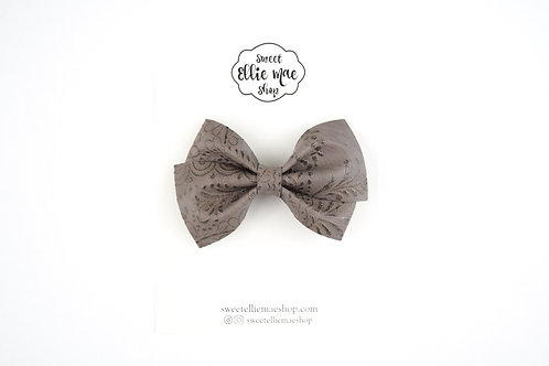 Mocha Embossed | Thick Lou Bow