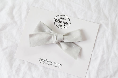 Dots in Light Grey | Hand-tied Gracie Bow