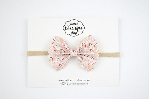 Wrapped in Rainbows | Mini Scalloped Ellie Bow