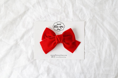 True Red | Hand-tied Velvet Bow