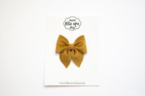 Butterscotch Velvet | Midi Sailor Bow