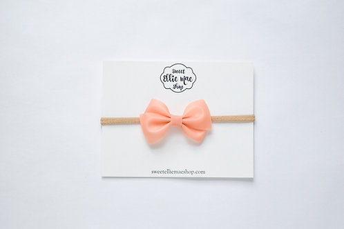 Muted Peach Jelly | Mini Lou Bow