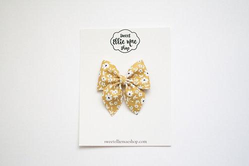 Flaxen Floral | Midi Sailor Bow