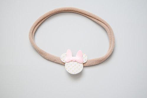 Gold Polka Dot & Pink Patent | Mini Mouse Headband