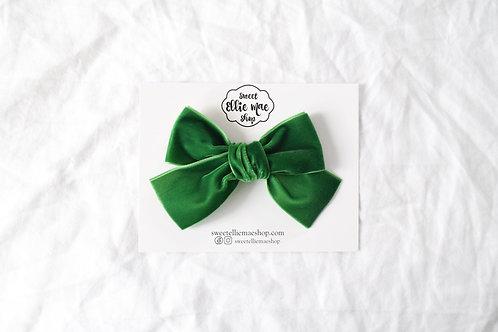 Kelly Green | Hand-tied Velvet Bow