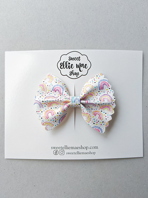 Cutie Rainbows | Mini Scalloped Ellie Bow